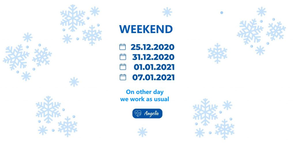 Opening hours for the holidays